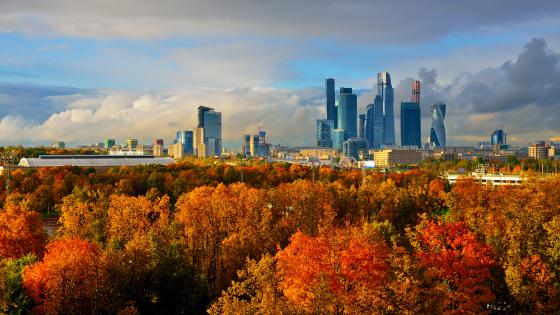 Skyscapers of Moscow wallpaper