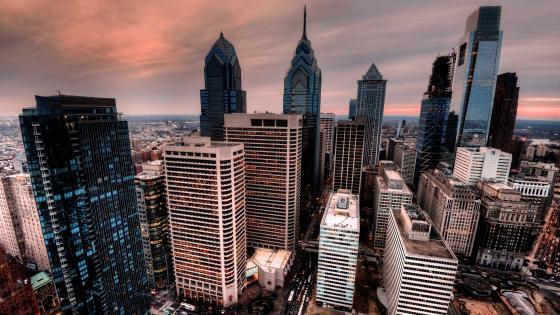 Philadelphia skyline wallpaper