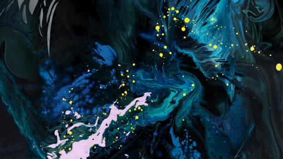 Blue splash abstract art wallpaper