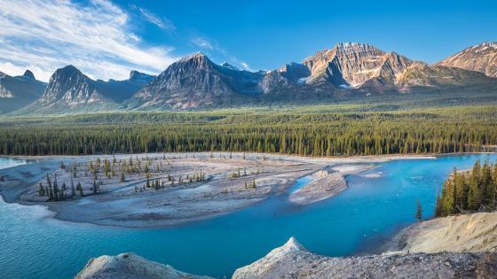 Athabasca River (Jasper National Park) wallpaper