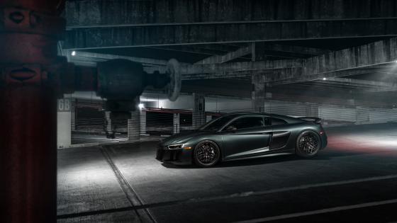 Black Audi R8 quattro wallpaper