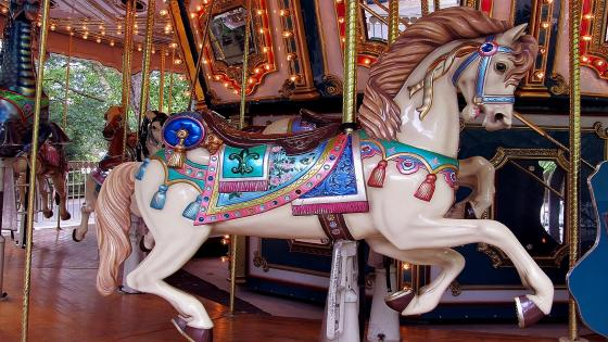 Flying Horse Carousel wallpaper