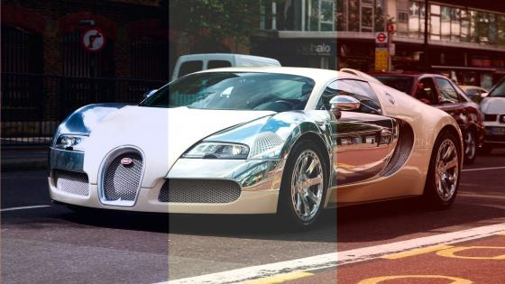 Bugatti in French Flag wallpaper