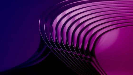 Purple curves wallpaper