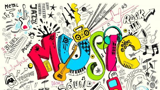 Music drawing wallpaper