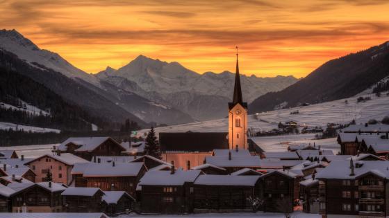 Ulrichen in winter (Switzerland) wallpaper