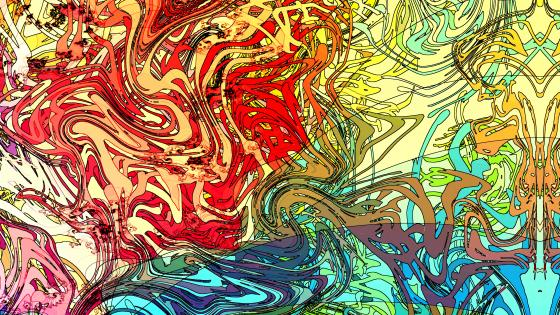 Colorful abstraction concept art wallpaper