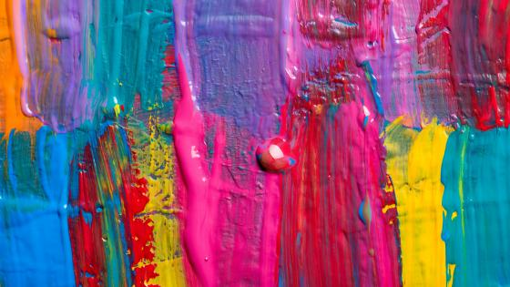 Multicolor abstract painting wallpaper