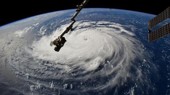 Hurricane Florence from Space wallpaper