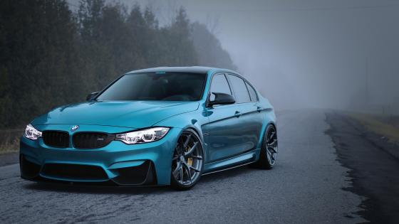 Blue BMW Series 5 wallpaper