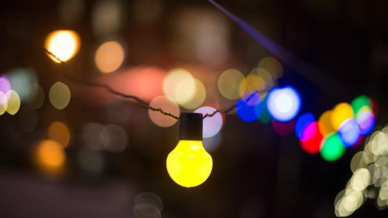 Foreground colorful lights wallpaper