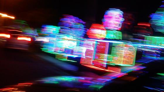 Time lapse city lights wallpaper