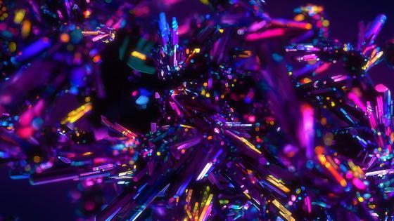 Glowing crystals wallpaper