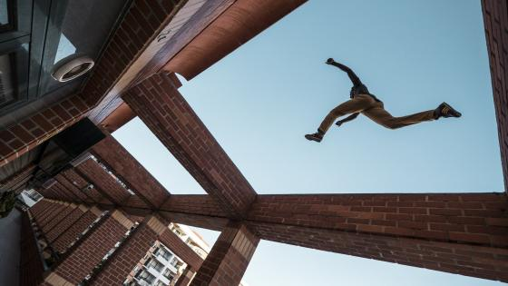 Parkour - Time laps photo wallpaper