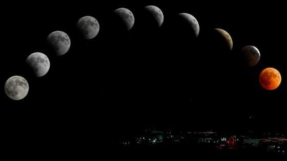 Lunar phases wallpaper
