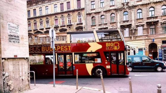 Budapest Big Bus wallpaper