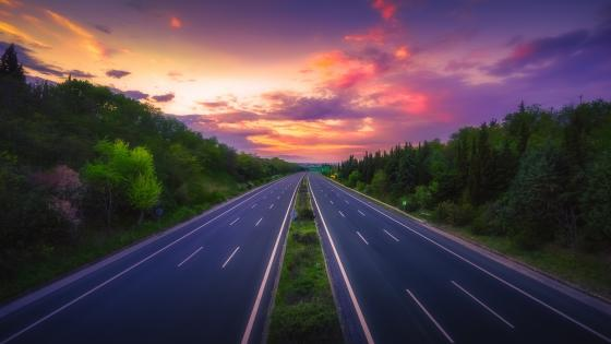 Empty highway wallpaper