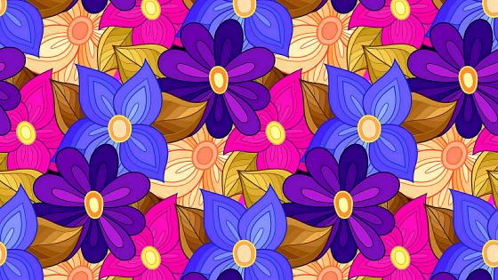 Flowers artistic drawing wallpaper