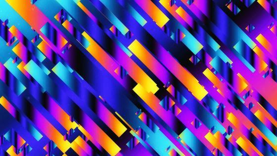 Neon Ribbons wallpaper