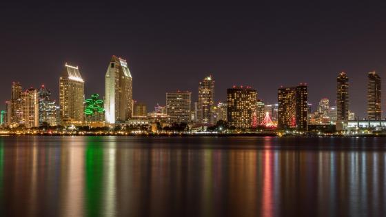 San Diego at night wallpaper