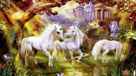 Fantasy Unicorns wallpaper