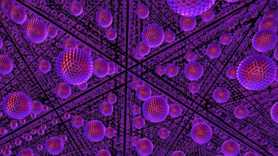 3D Purple spheres wallpaper