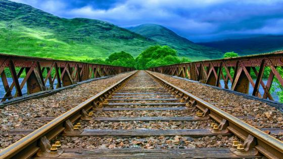 Scottish railway wallpaper