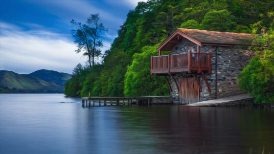 Pooley Bridge Boat House wallpaper