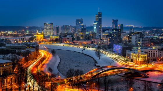 Vilnius skyline wallpaper
