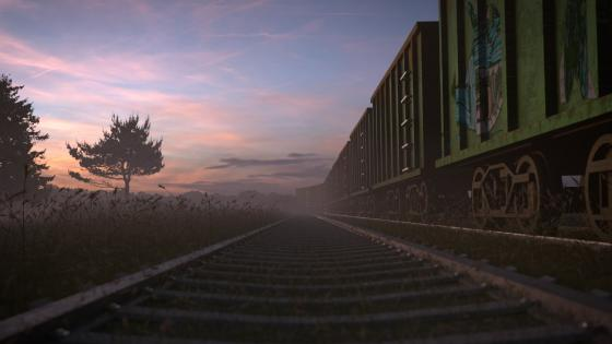 Abandoned Train wallpaper