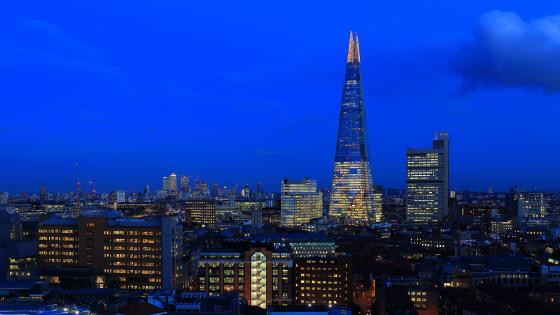 The Shard at night (London) wallpaper