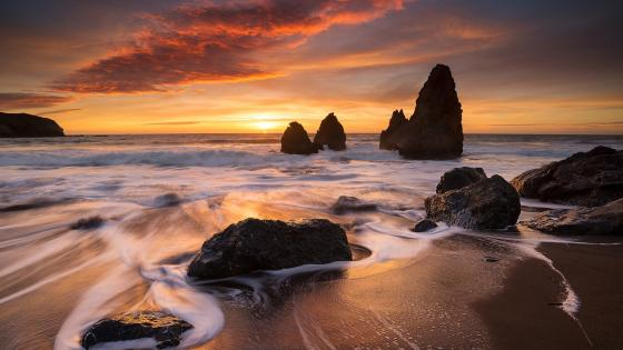 Rodeo Beach (California) wallpaper