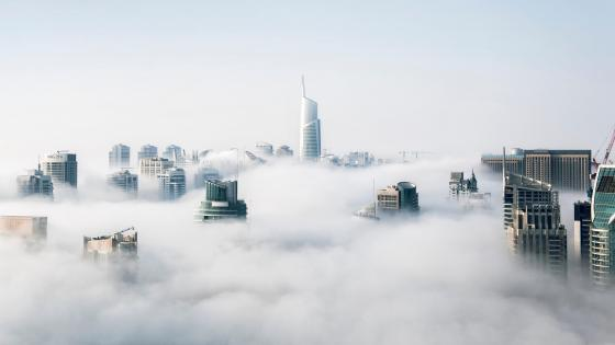 Foggy Day in Dubai wallpaper