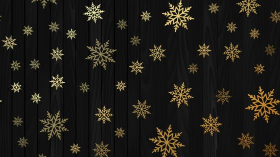 Gold snowflakes wallpaper