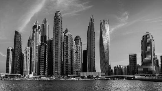 Dubai monochrome photo wallpaper