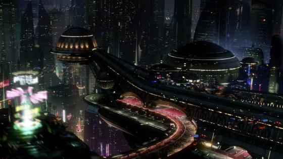 Futuristic city wallpaper