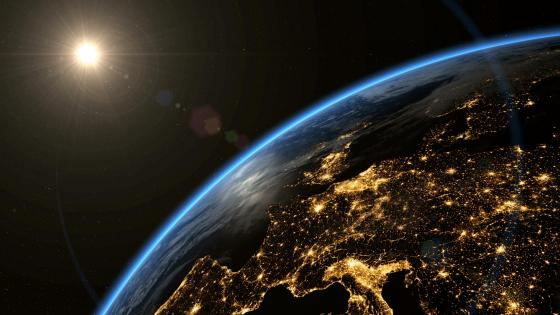 Europe's City Lights From Space wallpaper