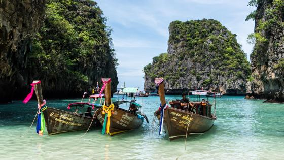 Koh Phi Phi Long Tail Boats wallpaper