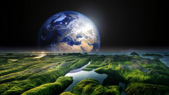 Earth in the horizon wallpaper