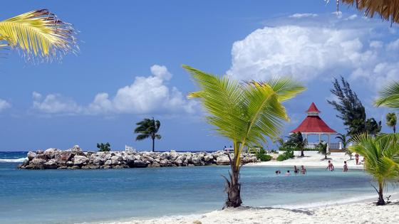 Beach at Grand Bahia Principe Jamaica wallpaper
