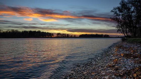Sunset at the Danube wallpaper