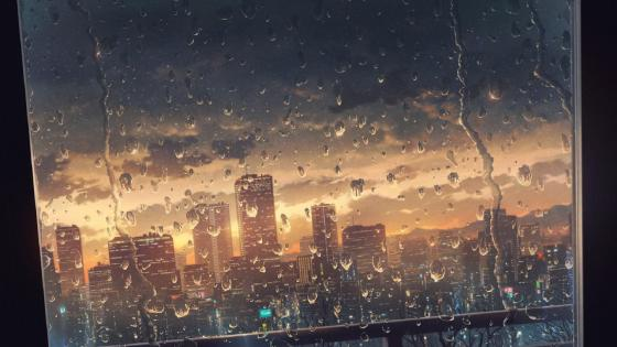 Rainy City wallpaper