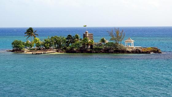 Private island in Jamaica wallpaper