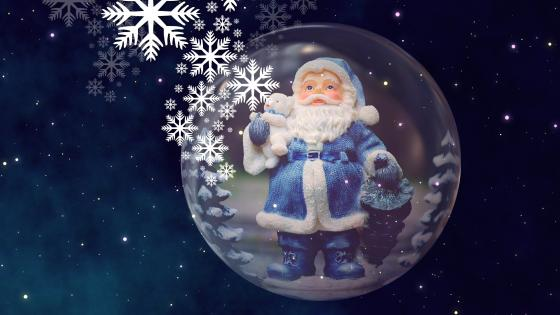 Blue Santa Claus wallpaper