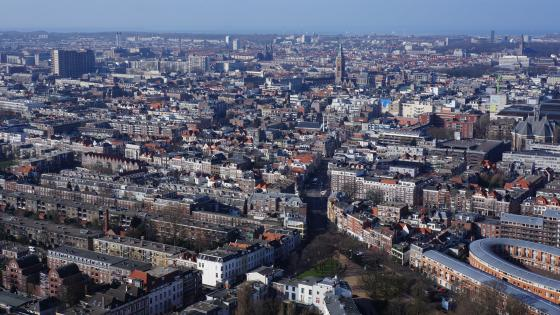 Aerial View of The Hague wallpaper
