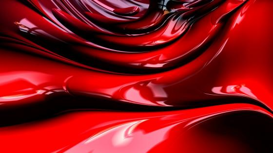 3D red abstraction wallpaper