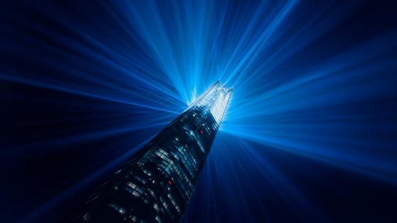 The Shard New Year Eve Light Show wallpaper