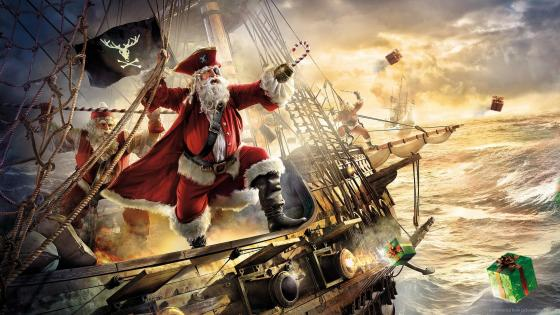 Pirate Santa Clause wallpaper