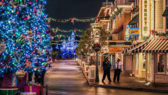 Christmas in Disneyland wallpaper