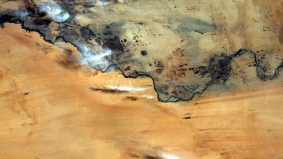 Nile River in Sudan from Space wallpaper